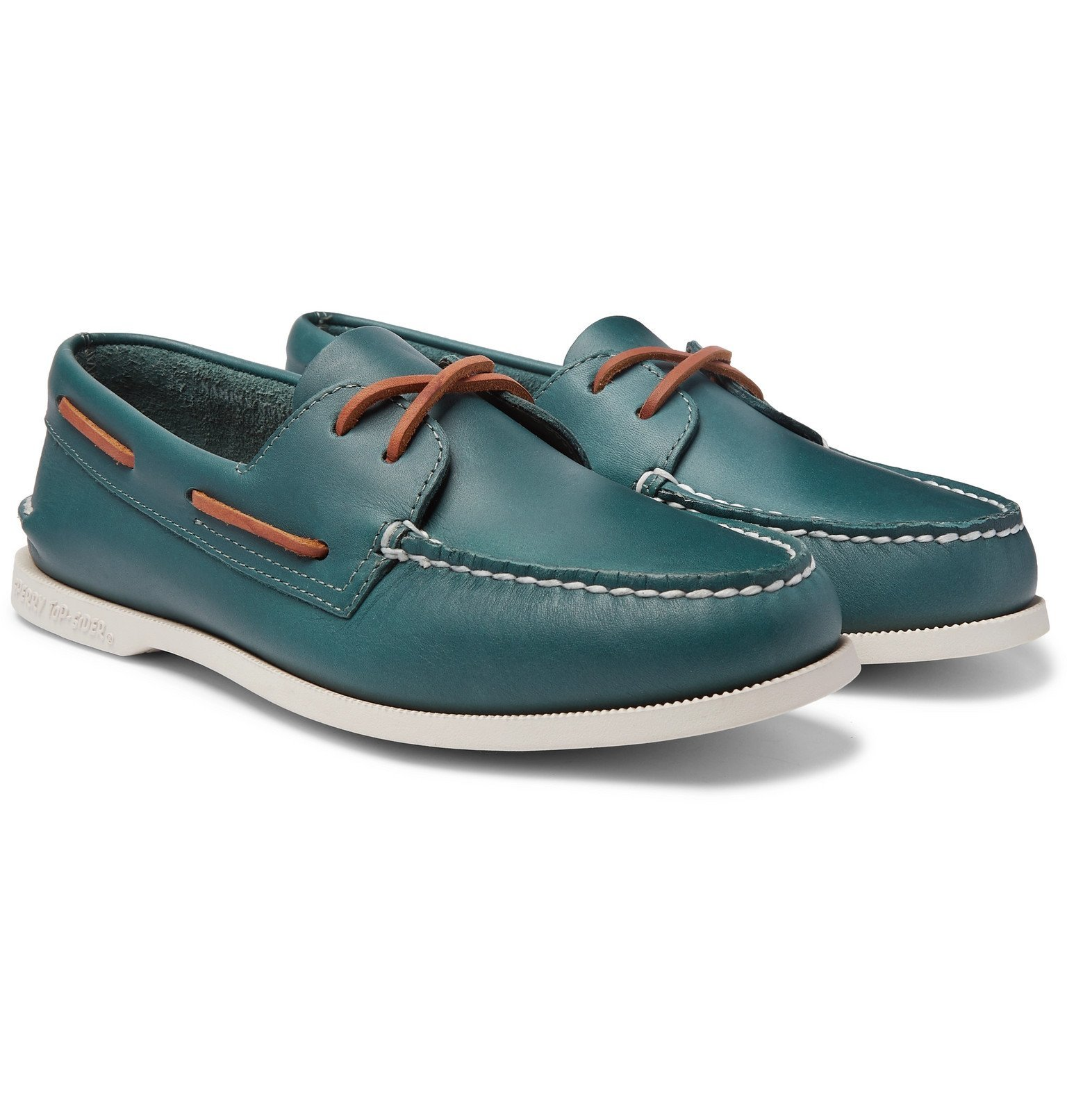 Photo: Sperry - Authentic Original Leather Boat Shoes - Green