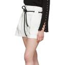 3.1 Phillip Lim White Origami Pleated Shorts