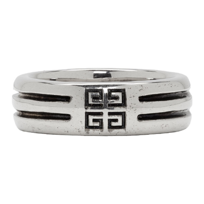 Photo: Givenchy Silver Double Row Band Ring