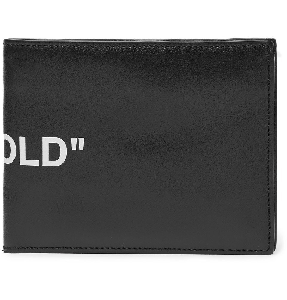 Photo: Off-White - Printed Leather Bifold Wallet - Black