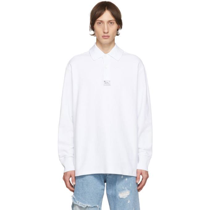Photo: Raf Simons White Heroes and Losers Big Collar Polo