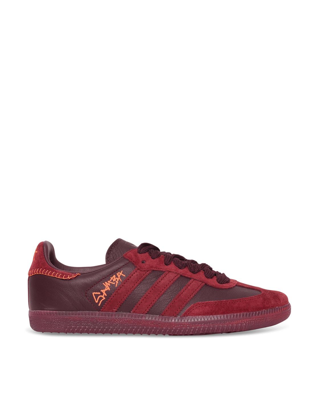 Adidas Originals Jonah Hill Samba Sneakers Maroon/Ecru