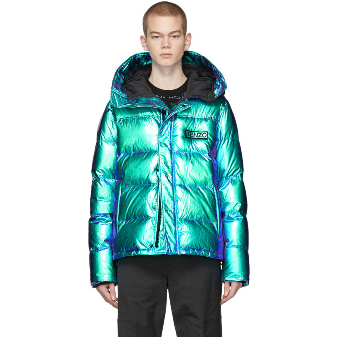 Photo: Kenzo Blue Limited Edition Holiday Down Hooded Quilted Jacket