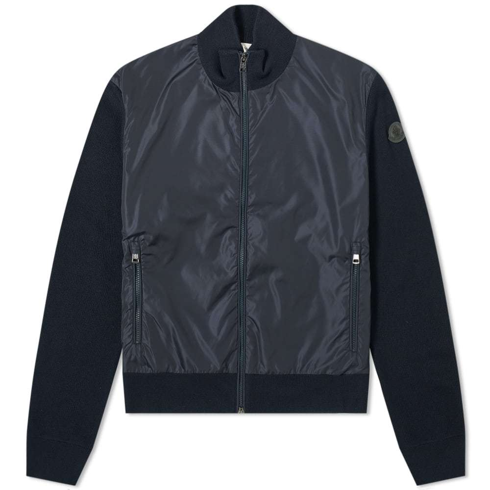 Photo: Moncler Nylon Zip Knitted Bomber Jacket