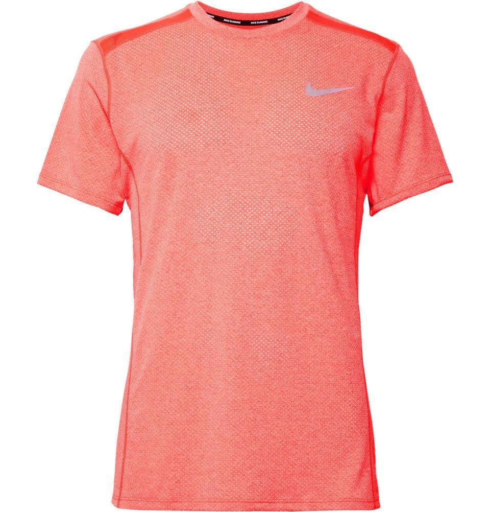 Photo: Nike Running - Miler Dri-FIT Mesh T-Shirt - Men - Papaya