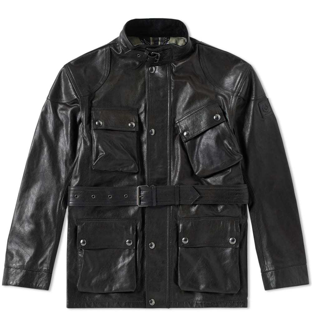 Belstaff Panther Leather Jacket Brown