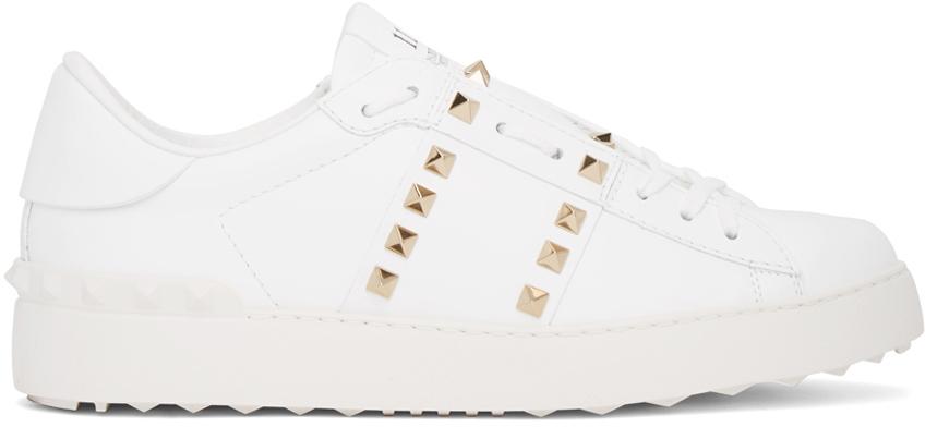 Photo: Valentino Garavani White Rockstud Untitled Open Sneakers