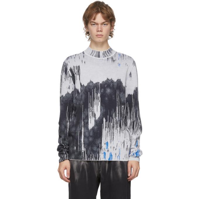 Photo: Feng Chen Wang Grey Merino Jacquard Sweatshirt