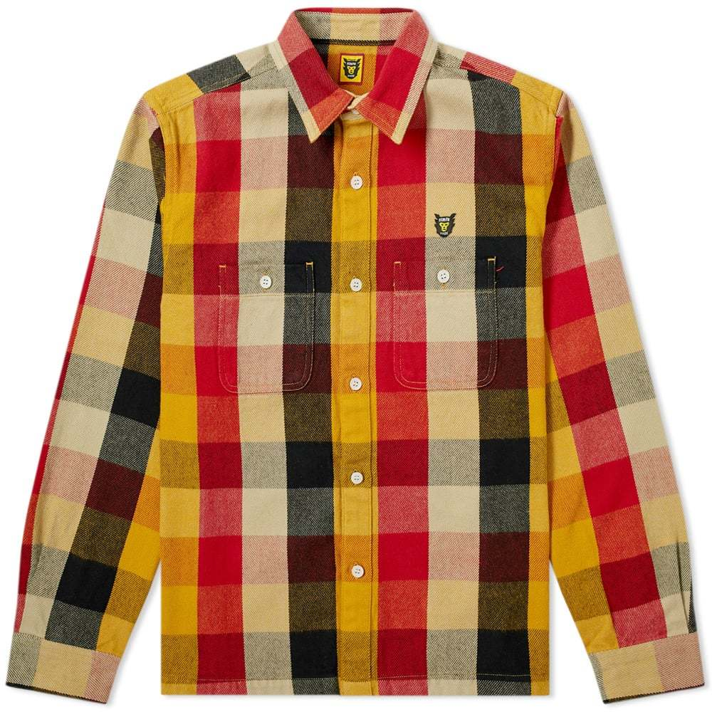 Photo: Human Made Check Shirt Yellow, Red & Black