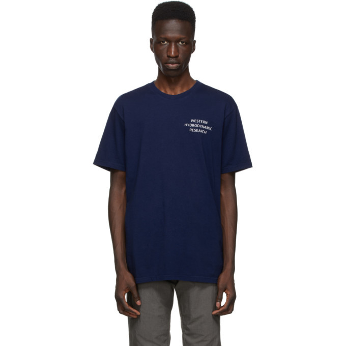 Photo: Western Hydrodynamic Research SSENSE Exclusive Blue Uniform T-Shirt