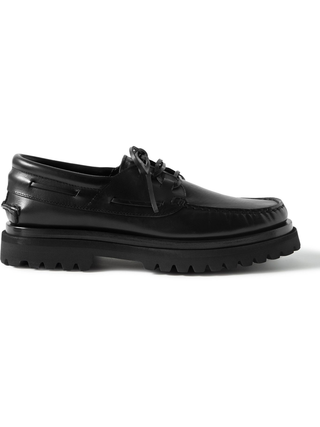 Photo: OFFICINE CREATIVE - Heritage Leather Boat Shoes - Black