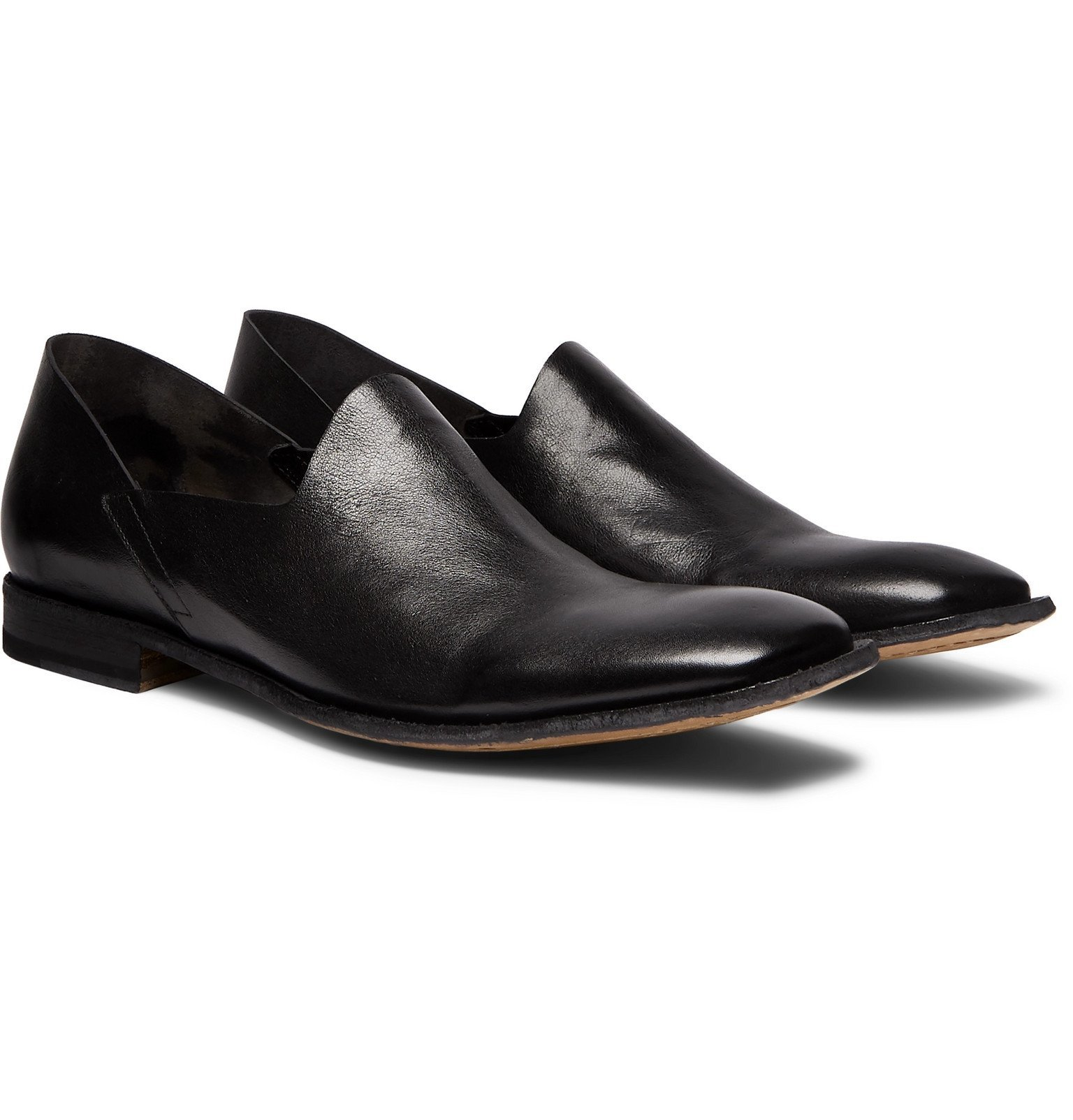 Photo: Officine Creative - Mondrian Collapsible-Heel Leather Loafers - Black