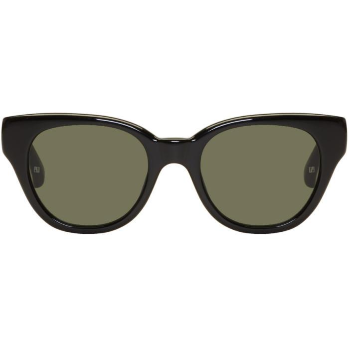 5823feb7b5 Linda Farrow Luxe Gold and Black 739 C1 Aviator Sunglasses Linda ...