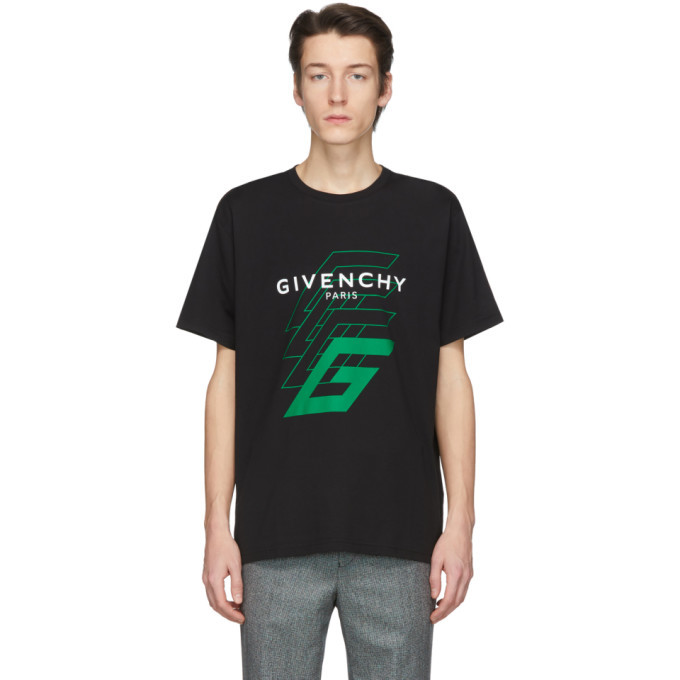 Photo: Givenchy Black 4G Logo T-Shirt