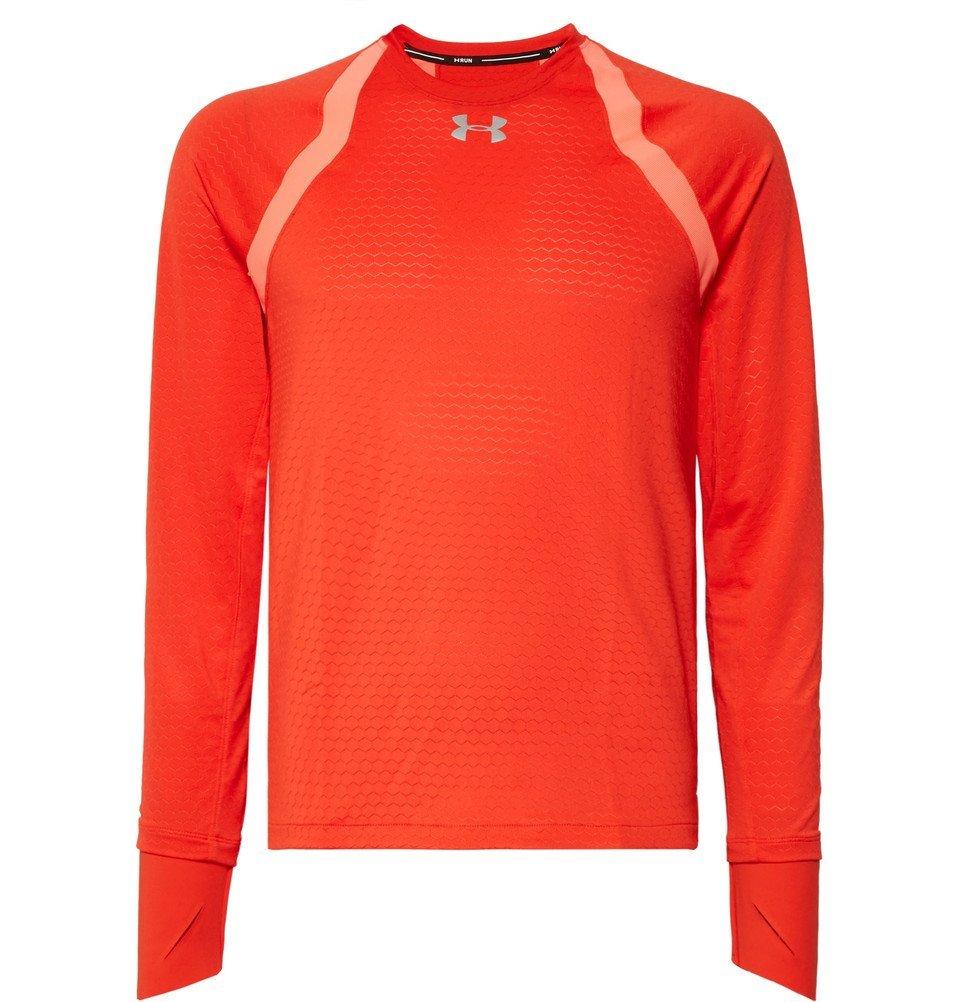 Photo: Under Armour - HexDelta HeatGear T-Shirt - Men - Tomato red