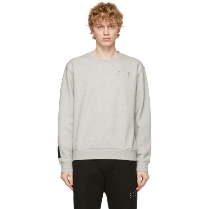 MCQ Grey Regular Pullover Sweatshirt
