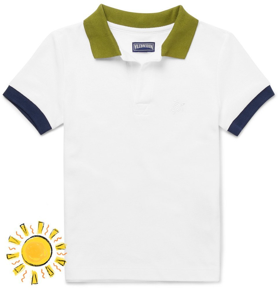 Photo: Vilebrequin - Boys Ages 2 - 12 Contrast-Tipped Cotton-Piqué Polo Shirt - Men - White