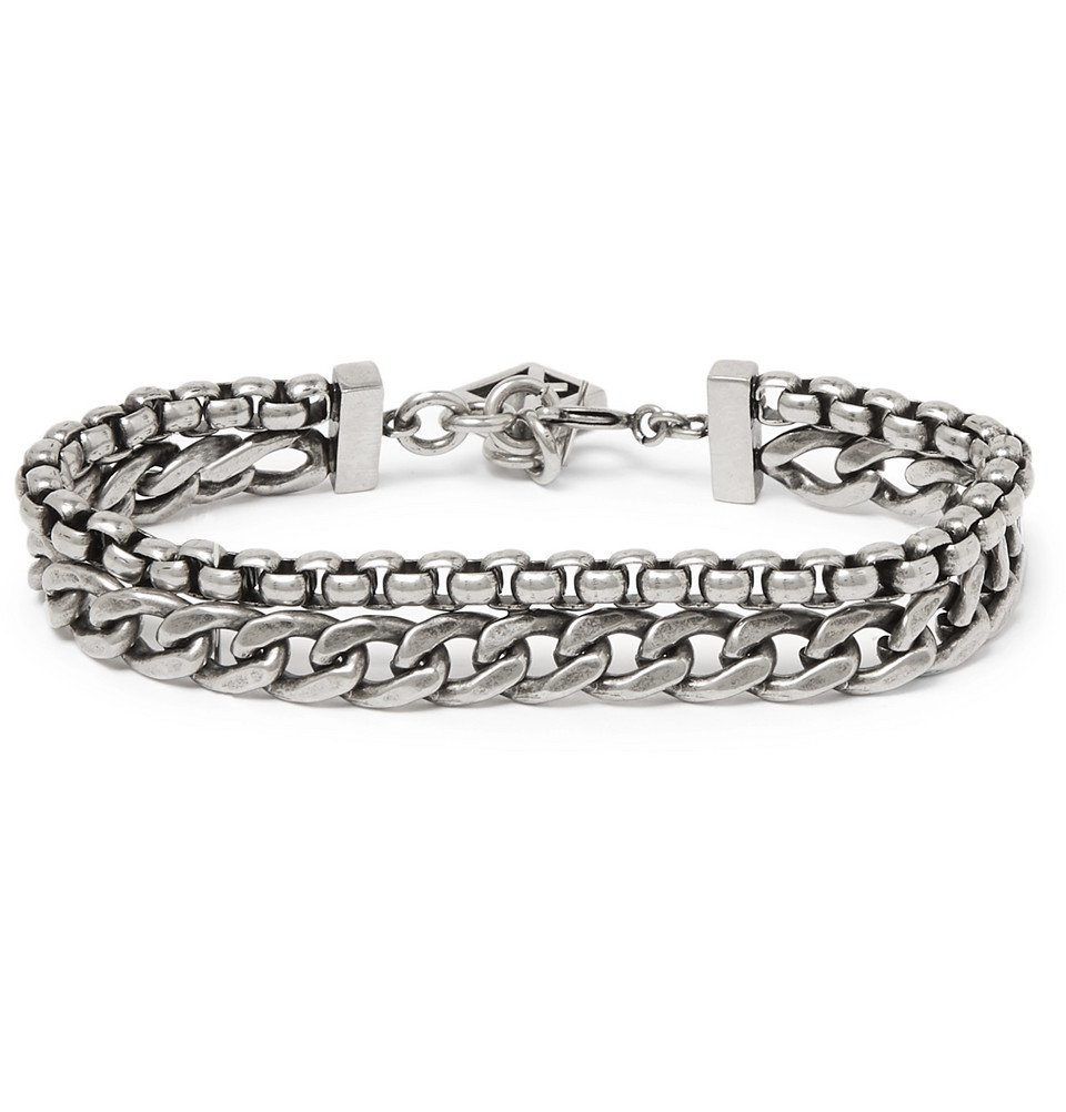 Photo: Givenchy - Oxidised Silver-Tone Bracelet - Silver