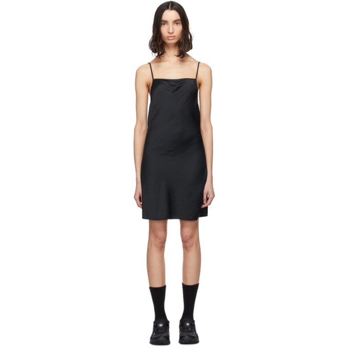 Photo: alexanderwang.t Black Light Wash and Go Mini Cami Dress