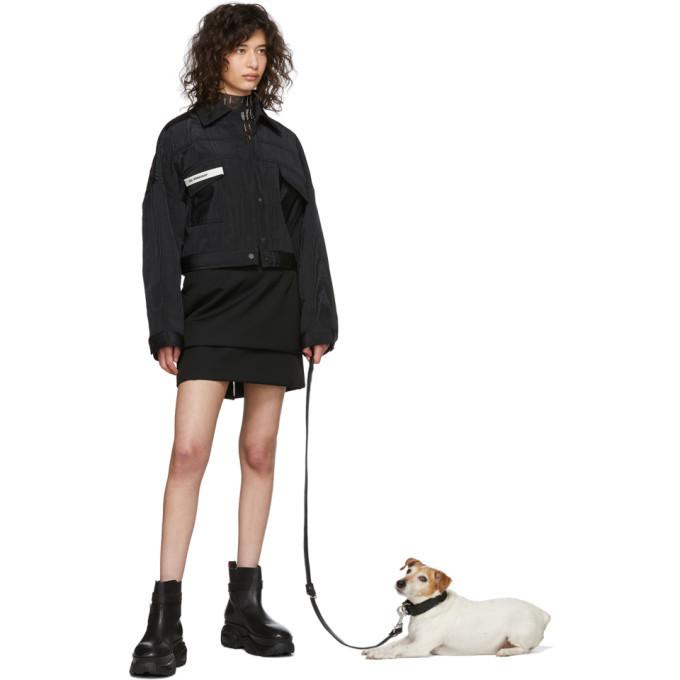 032c Black Leather Leash