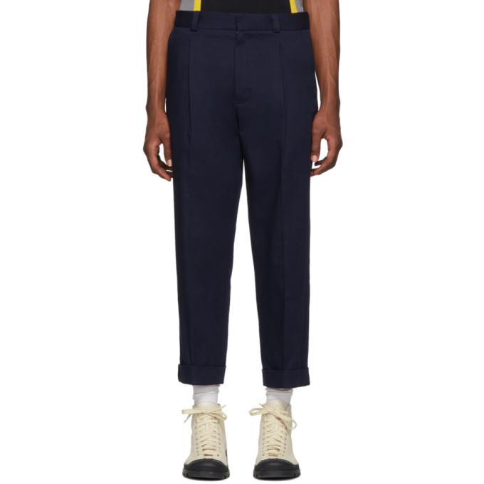 Photo: Acne Studios Navy Cropped Pierre Trousers