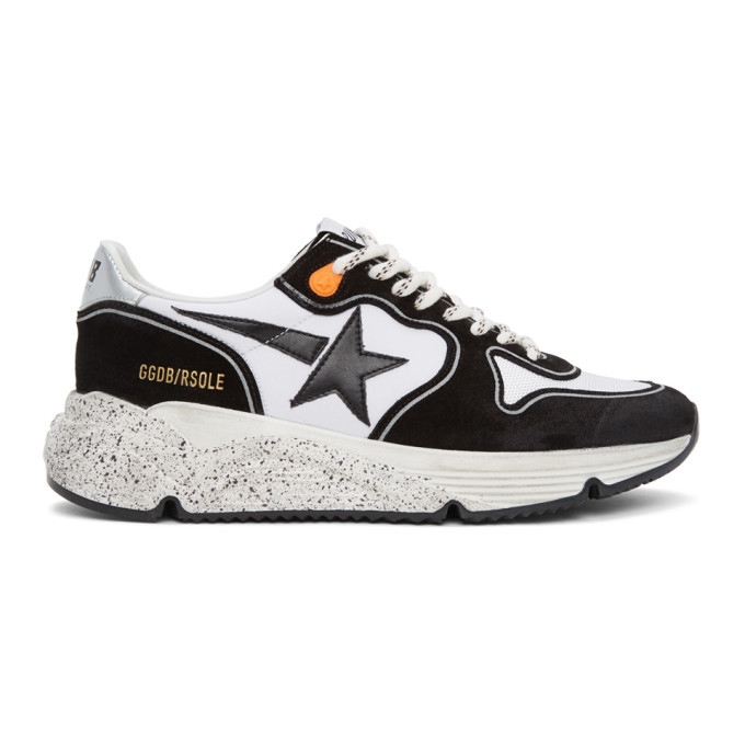 Photo: Golden Goose Black and White Running Sole Sneakers