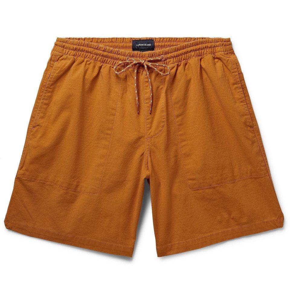 Photo: J.Crew - Cotton-Blend Ripstop Drawstring Shorts - Orange
