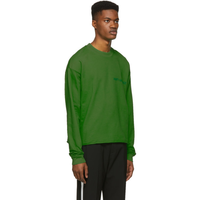 Nasaseasons SSENSE Exclusive Green Dont Look Away Long Sleeve T-Shirt