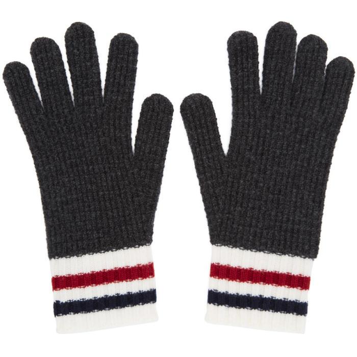 Photo: Moncler Gamme Bleu Grey Wool Gloves