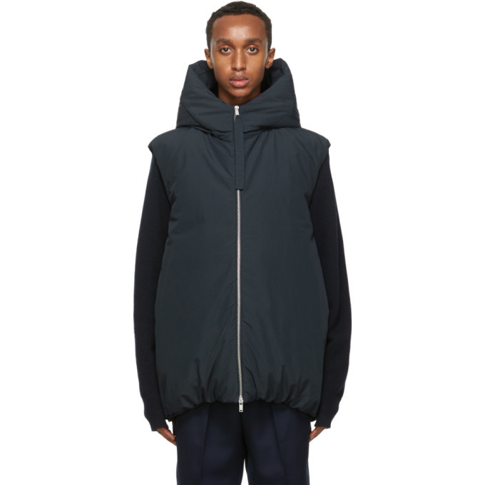 Photo: Jil Sander Navy Down Hooded Vest