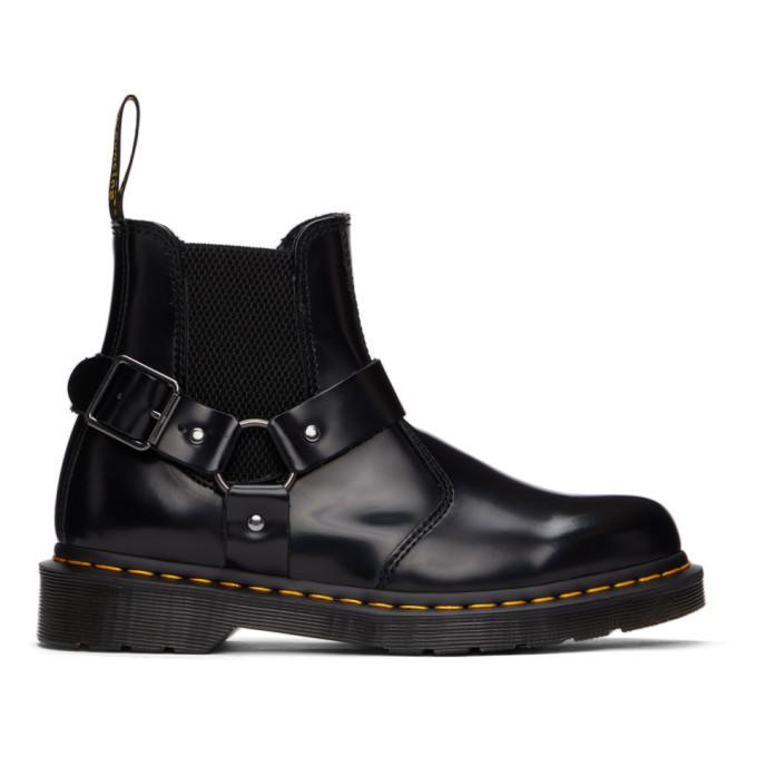 Photo: Dr. Martens Black Wincox Buckle Chelsea Boots