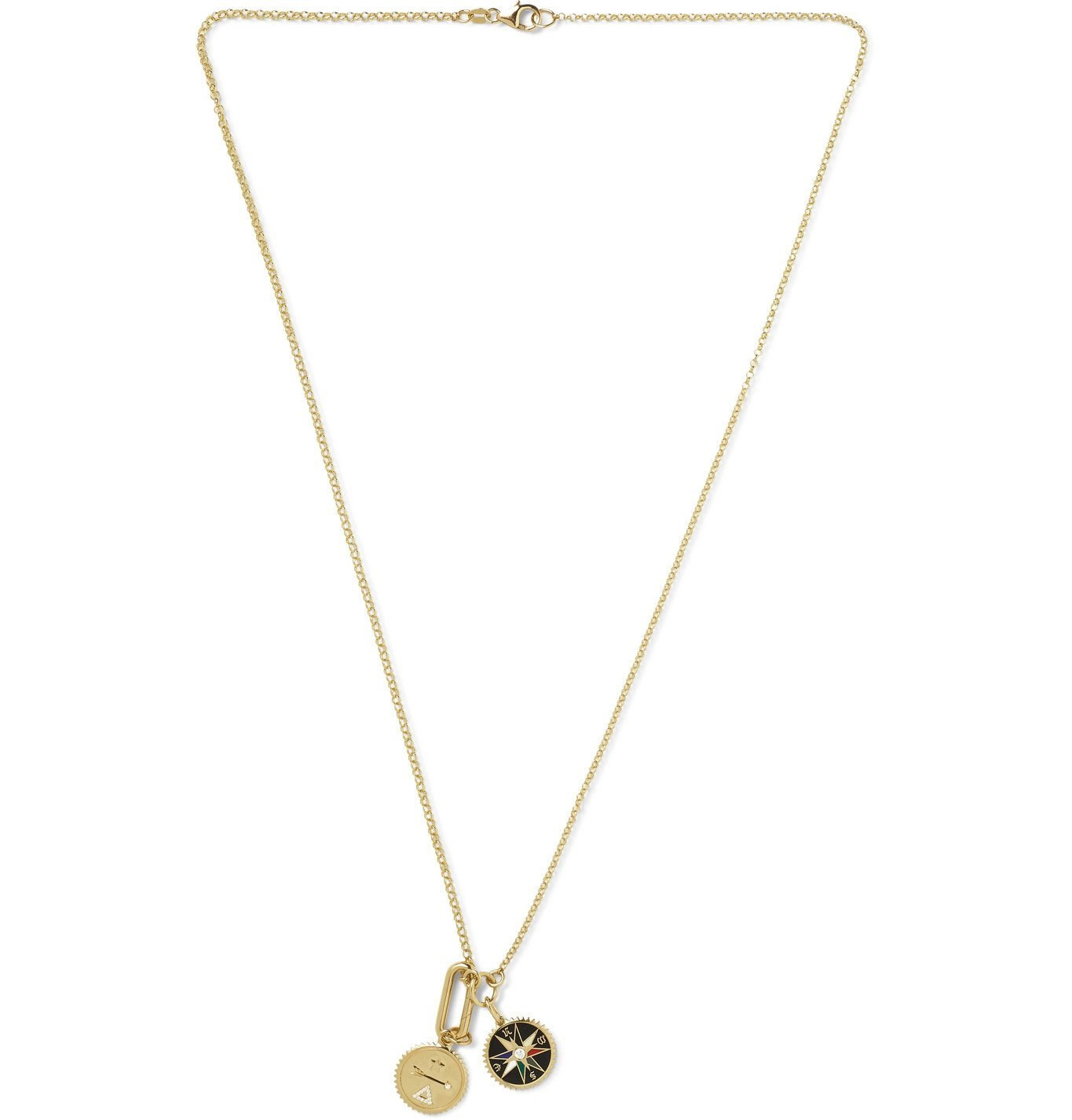 Photo: Foundrae - 18-Karat Gold, Diamond and Enamel Necklace - Gold