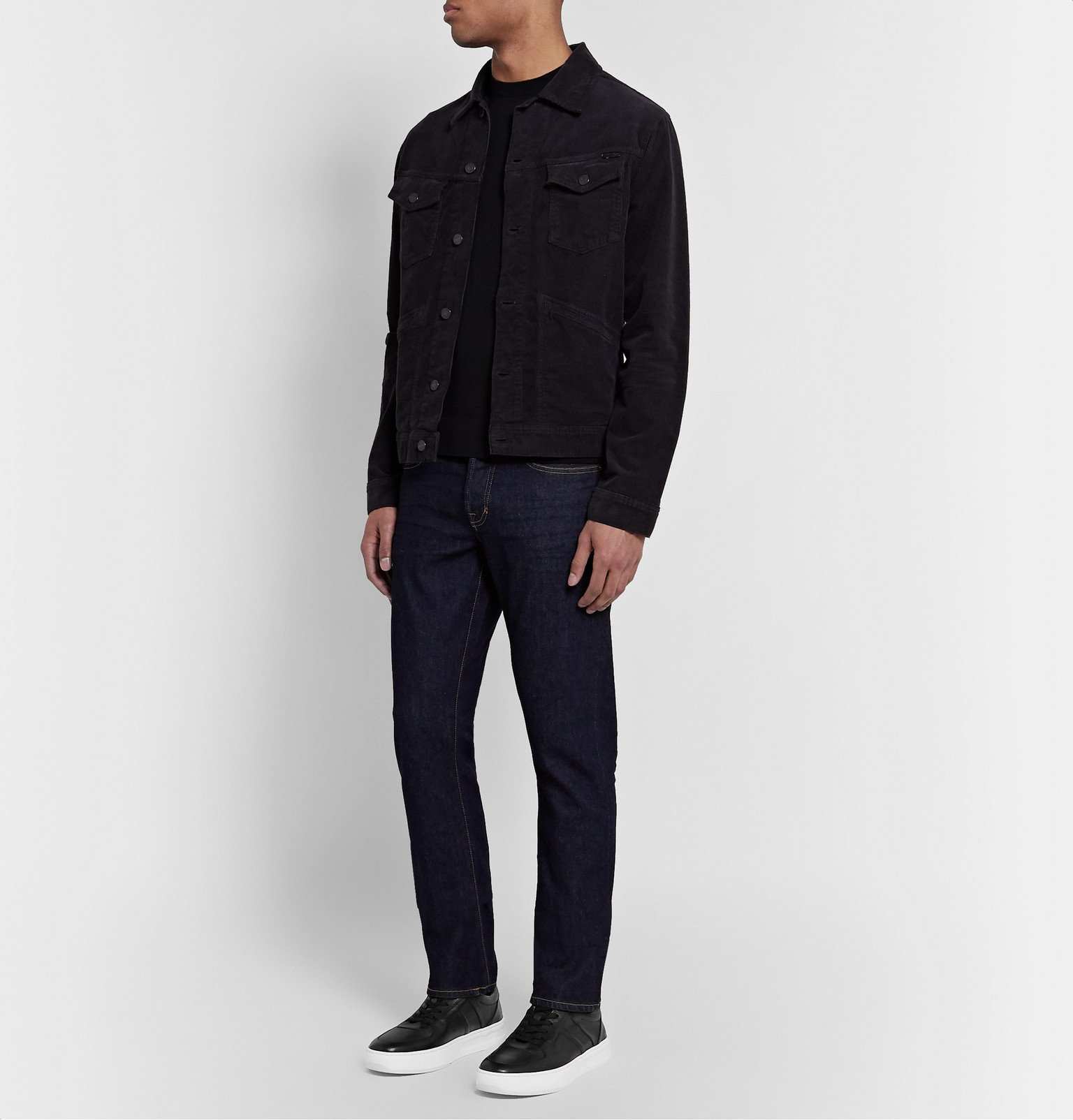 Tod's - Full-Grain Leather Sneakers - Black