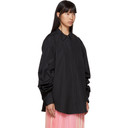 3.1 Phillip Lim Black Gathered Sleeve Shirt