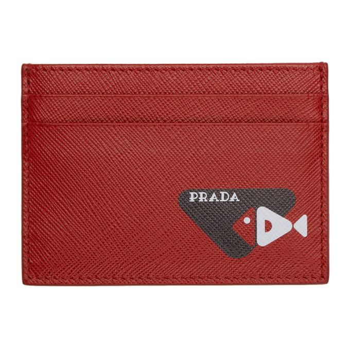Photo: Prada Red Saffiano Fish Card Holder