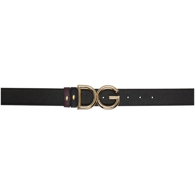Photo: Dolce and Gabbana Reversible Black DG Logo Belt
