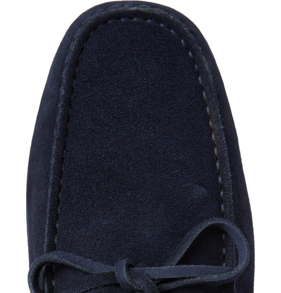 Tod's - Gommino Suede Driving Shoes - Men - Navy