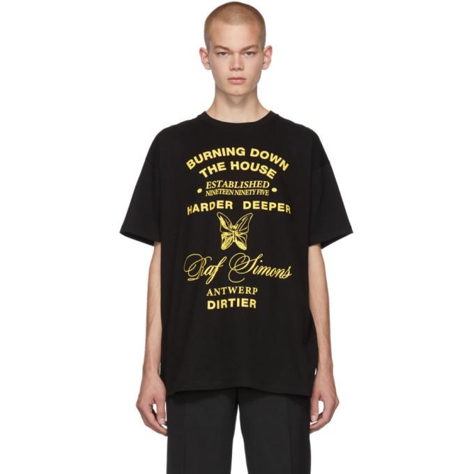 Raf Simons Black Harder Deeper Big Fit T-Shirt
