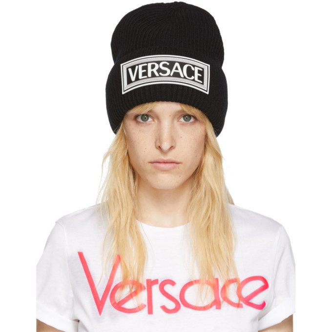 Photo: Versace Black Logo Beanie