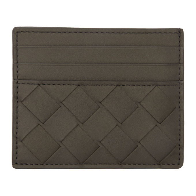 Photo: Bottega Veneta Grey Intrecciato Card Holder