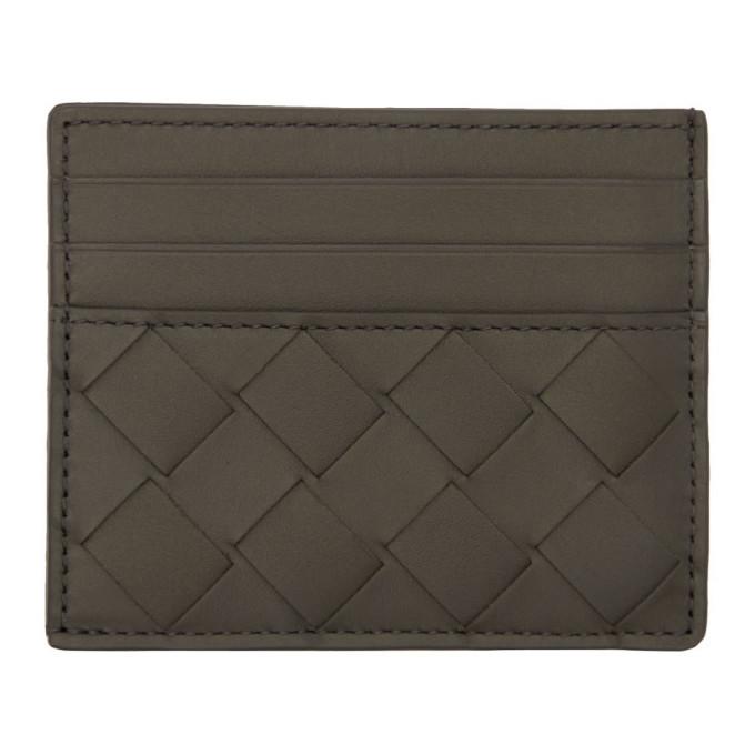 Photo: Bottega Veneta Grey Intrecciato Card Holder
