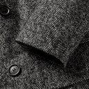 Dunhill - Double-Breasted Shearling-Trimmed Herringbone Wool-Blend Coat - Men - Black