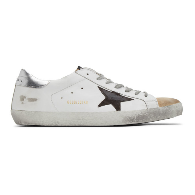 Photo: Golden Goose White and Beige Superstar Sneakers