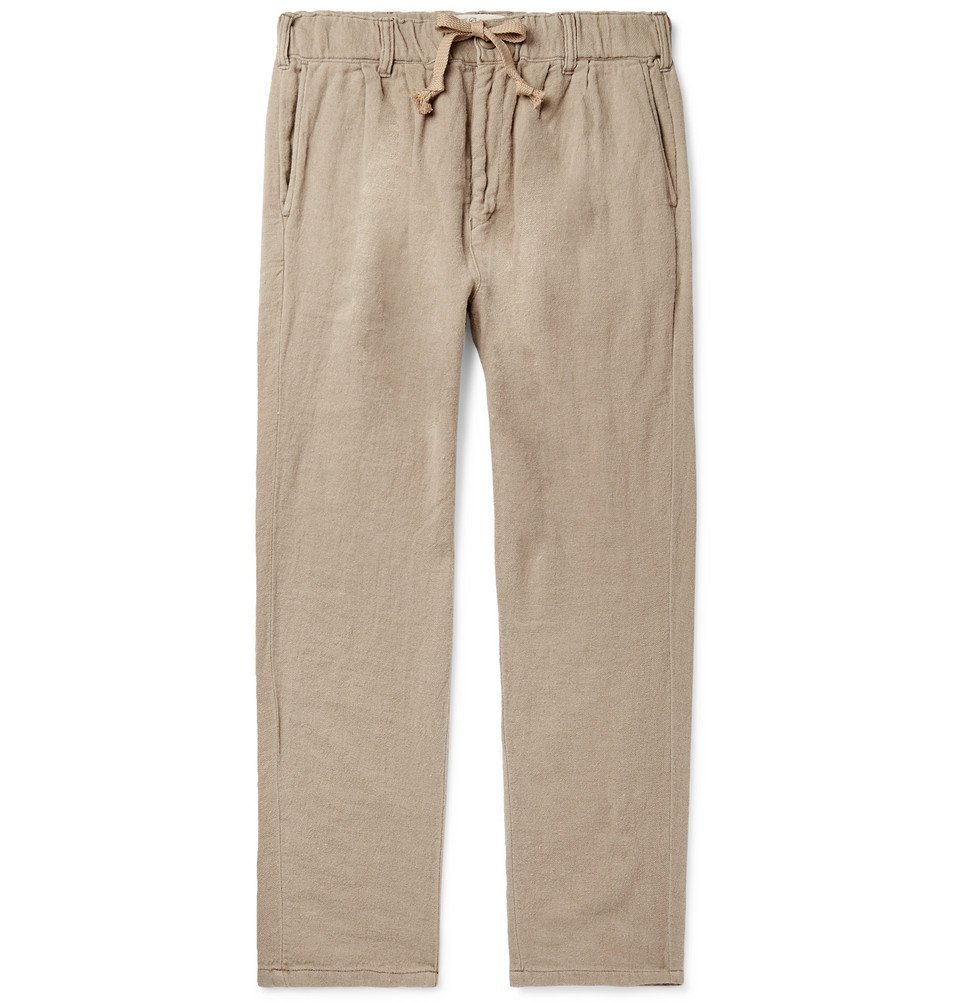 Photo: Remi Relief - Tapered Cotton Drawstring Chinos - Beige