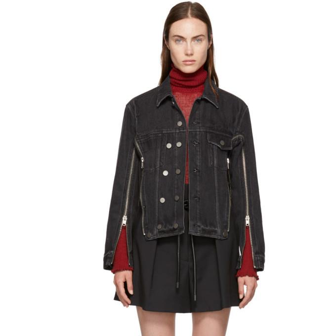 3.1 Phillip Lim Black Zippered Denim Jacket