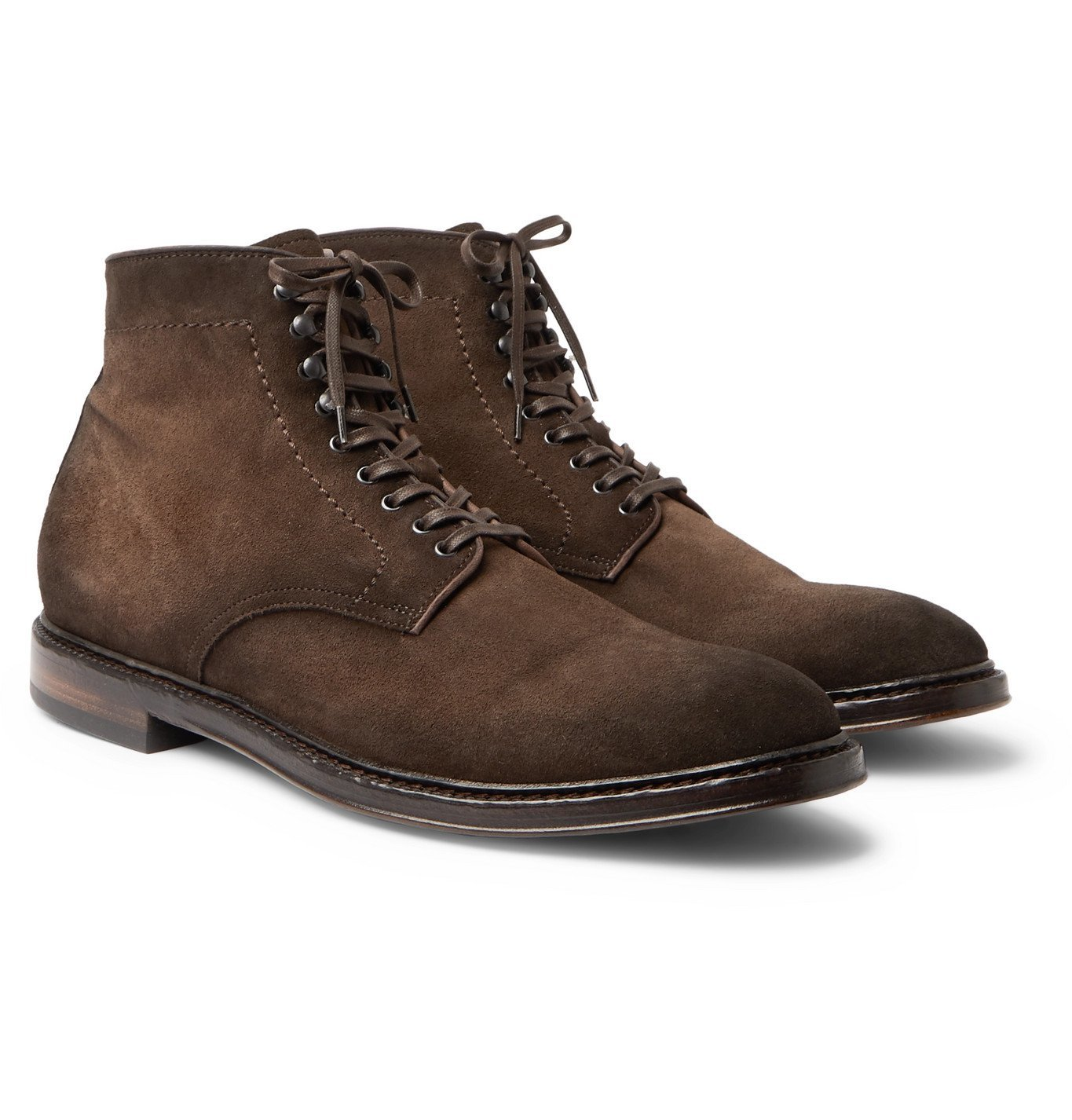 Photo: Officine Creative - Hopkins Burnished-Suede Boots - Brown