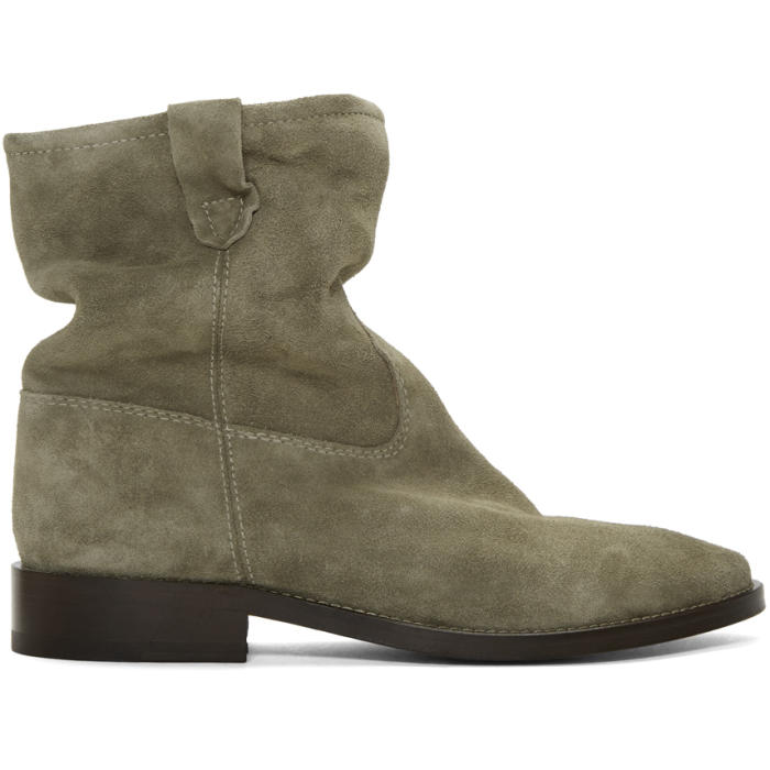 Photo: Isabel Marant Brown Cryston Velvet Boots