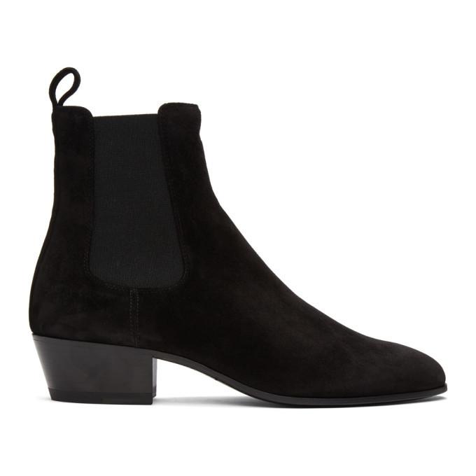 Photo: Saint Laurent Black Suede Cole Chelsea Boots