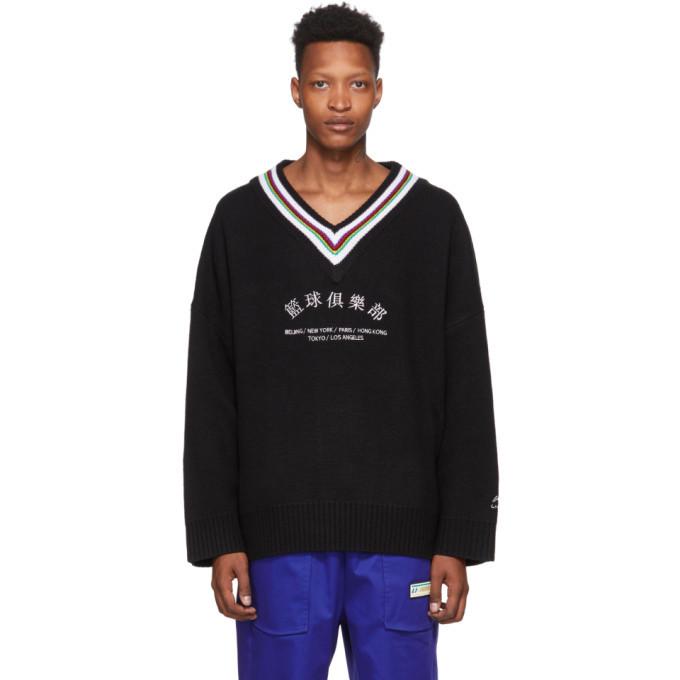 Photo: Li-Ning Black Oversized V-Neck Sweater