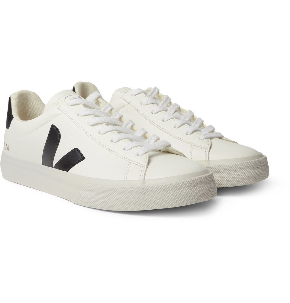 Photo: Veja - Campo Rubber-Trimmed Leather Sneakers - White